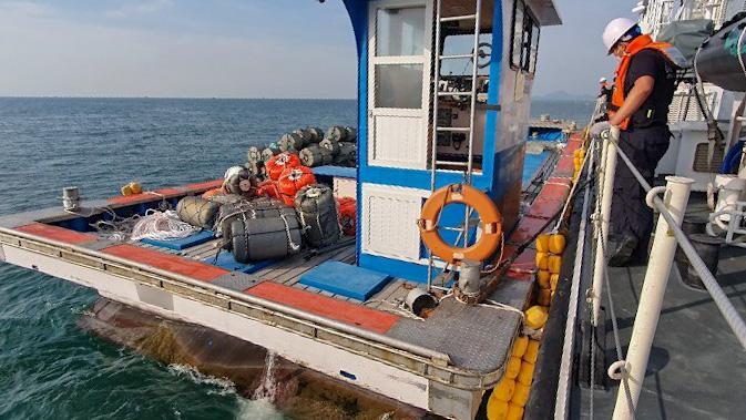 해양안전 저해 사범 특별단속 중인 여수해경. 사진=여수해경