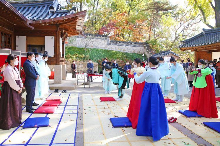 도봉구, 간송옛집에서 '전통 성년례' 열어