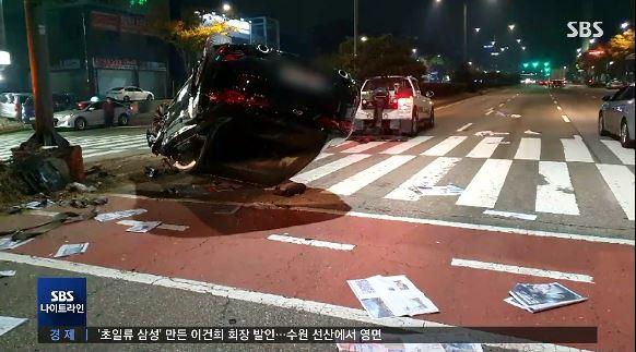 사고 당시 현장 사진./사진=SBS