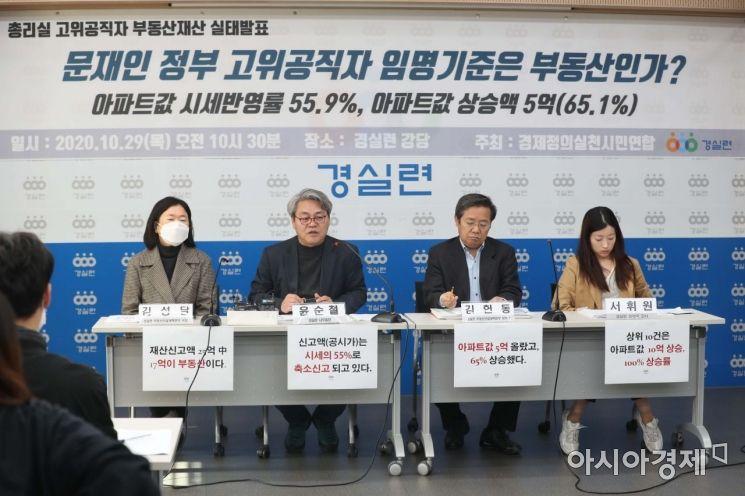 [포토]경실련, 총리실 고위공직자 부동산재산 실태 발표