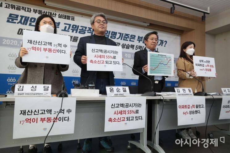 [포토]국무총리실 고위공직자 부동산재산 발표 기자회견