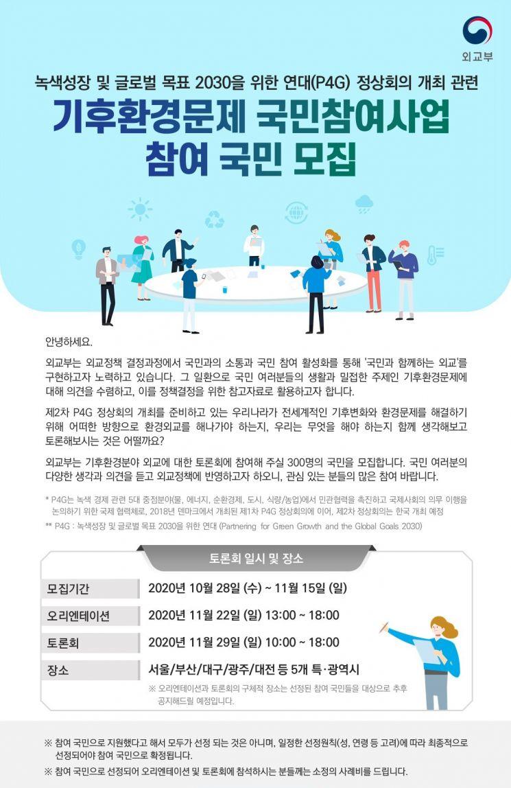 '기후문제 외교적 대응' 주제, 외교부 내달 22일·29일 국민토론회