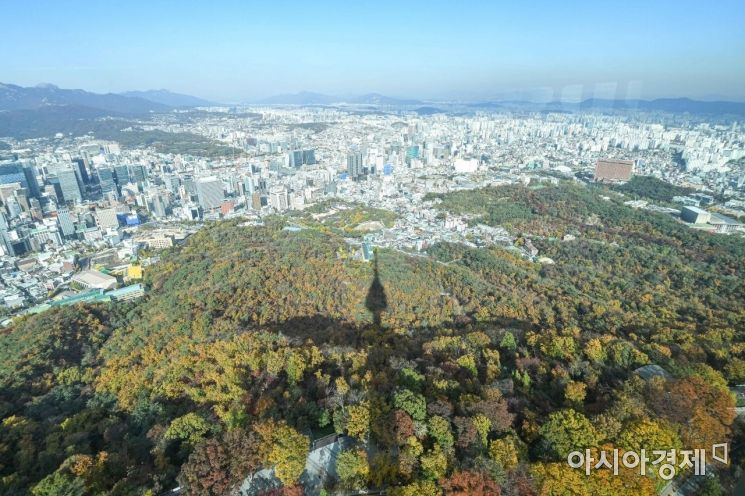 [포토]단풍 물든 서울 도심