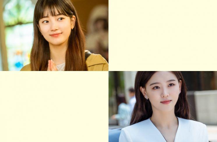 배우 배수지, 강한나. 사진=tvN