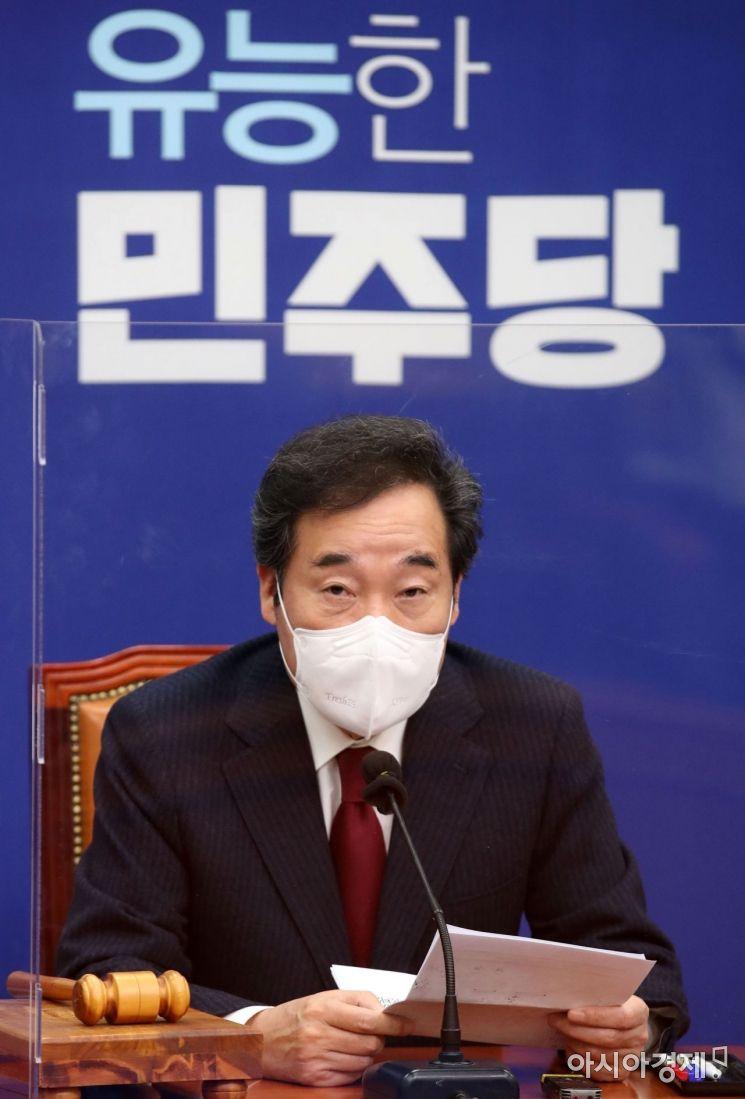 이낙연 더불어민주당 대표가 6일 국회에서 열린 최고위원회의에 참석, 모두발언을 하고 있다./윤동주 기자 doso7@