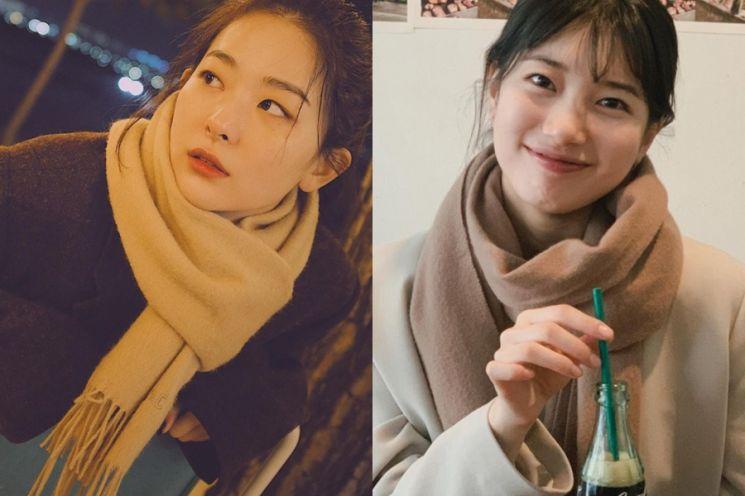 포근한데 예쁘기까지, 수지→강민경 재킷·플리스·롱코트