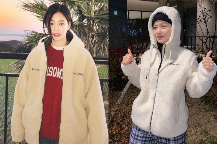 곰돌이 매력 사진=이유비, 이하이 인스타그램