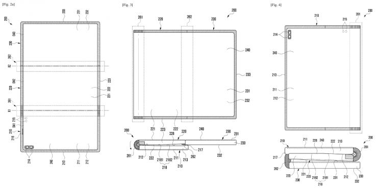 삼성전자의 듀얼 폴더블 기기 특허 내용(출처=WIPO)