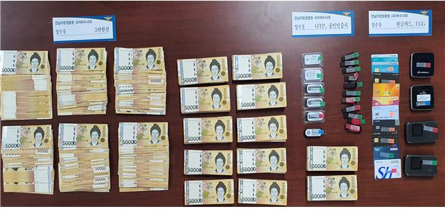 가짜 주식투자앱(HTS) 이용 35억여 원 가로챈 일당 검거