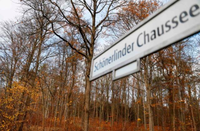 뼈가 발견된 독일 베를린의 공원 부근의 모습. 사진출처 = 연합뉴스