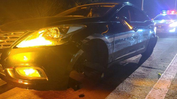 나주 자동차 전용도로서, 교통사고로 30대 여성 운전자 다쳐