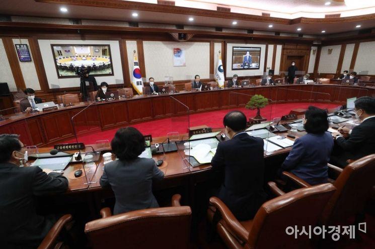 [포토]정세균 총리 주재로 열린 국무회의