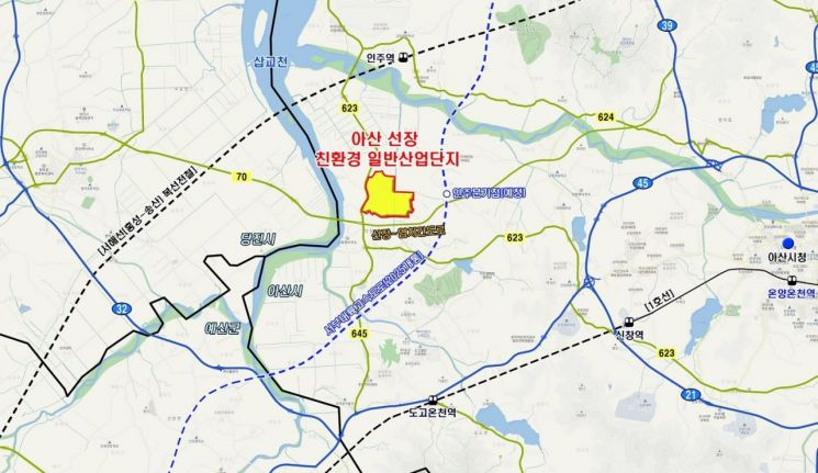 아산 선장 친환경 일반산업단지 위치도 (제공=SK건설)