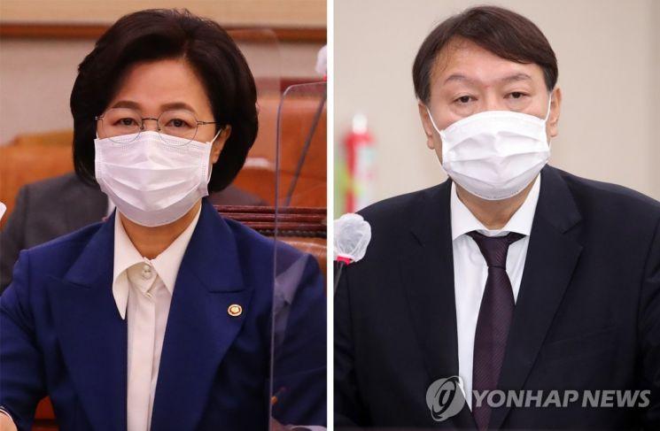 추미애 법무부 장관과 윤석열 검찰총장./사진=연합뉴스