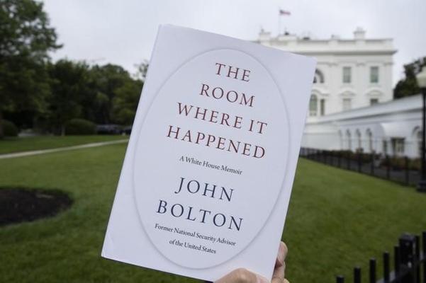 ▲사이먼앤슈스터에서 출판한 존 볼턴 전 국가안보보좌관의 회고록 '그 일이 일어난 방'