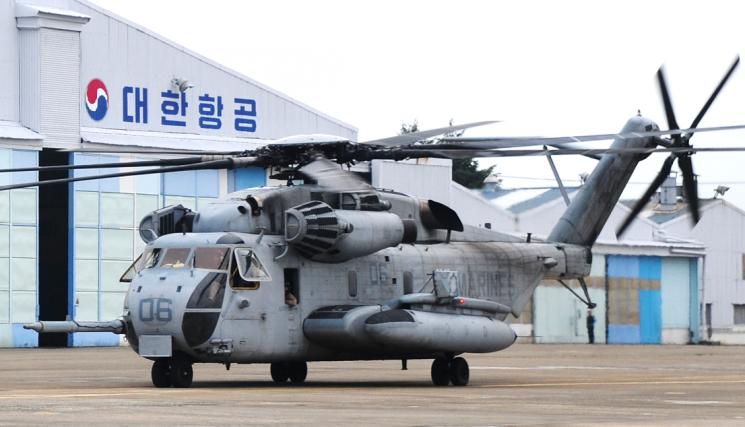 대한항공, 1500억 규모 미군 H-53E 대형헬기 정비사업 수주