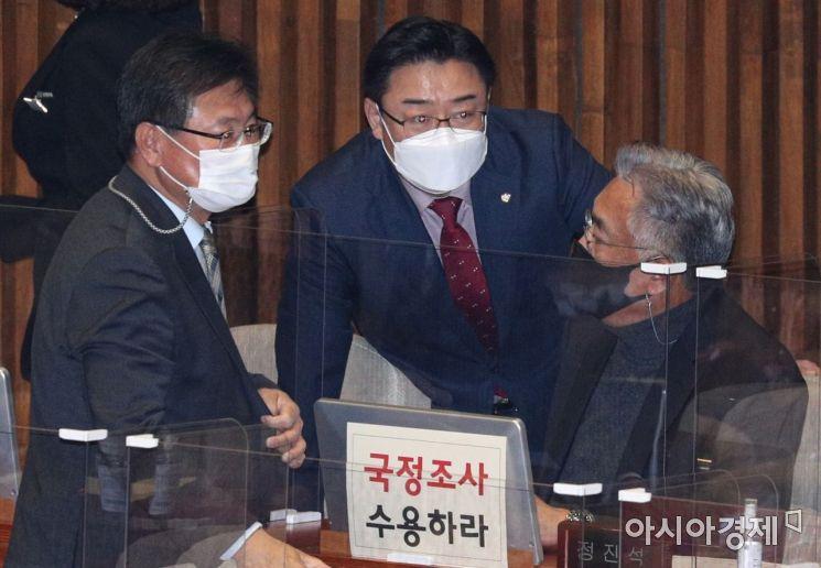 [포토] 이야기 나누는 김성원·정진석