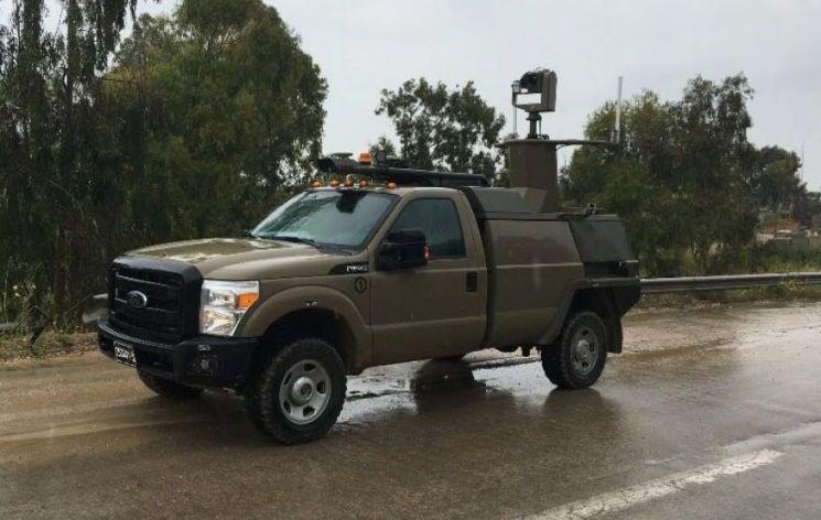 이스라엘군의 무인 픽업트럭의 모습[이미지출처=이스라엘 국방부]