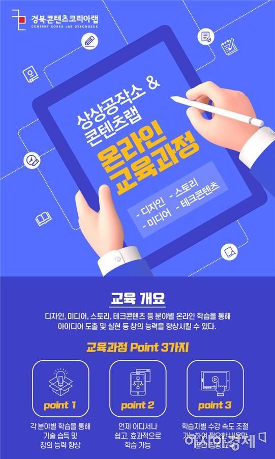 경북콘텐츠진흥원, '영상편집·콘텐츠랩' 온라인 무료 강좌
