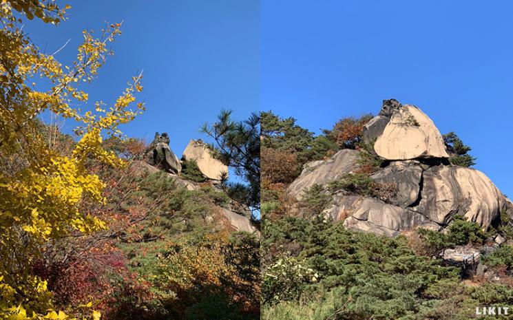 인왕산 기암괴석 풍경