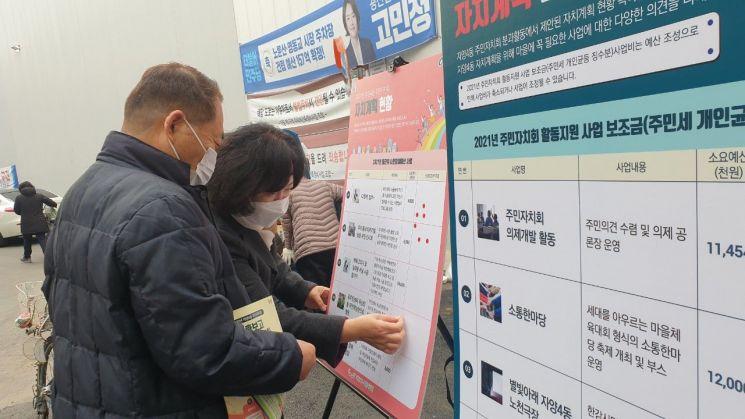 자양4동 주민자치회 총회주간 활동