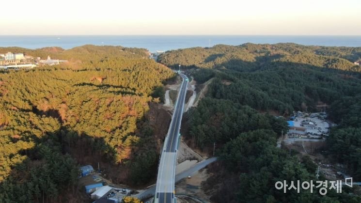울진군 국도36호선 모습.