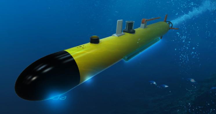 수중자율기뢰탐색체(AUV, Autonomous Underwater Vehicle) 개념도. /LIG넥스원 제공
