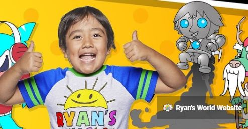 유튜버 라이언 카지. 사진출처 = 유튜브 채널 'Ryan's World' 캡처