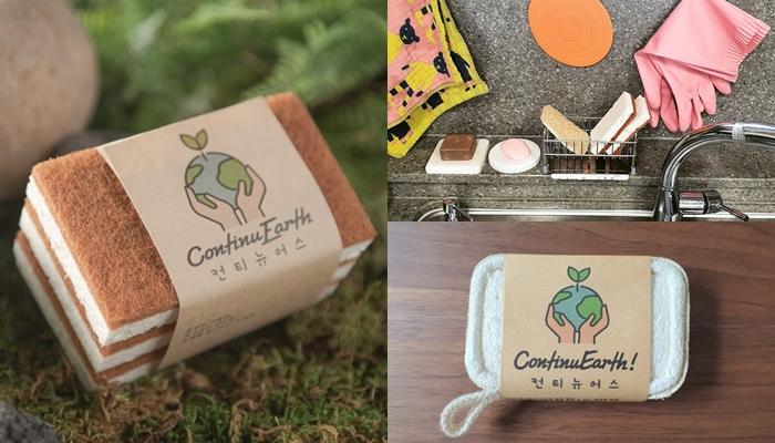 컨티뉴어스 '코코넛 수세미', 사진=(좌로부터)컨티뉴어스 인스타그램, 텀블벅
