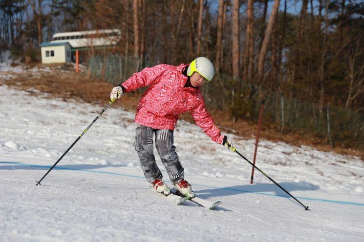 스키 연습 중인 도현씨. (사진=본인 제공)