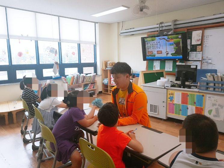 '진로체험의 날' 수업을 하고 있는 도현씨 (사진=본인 제공)