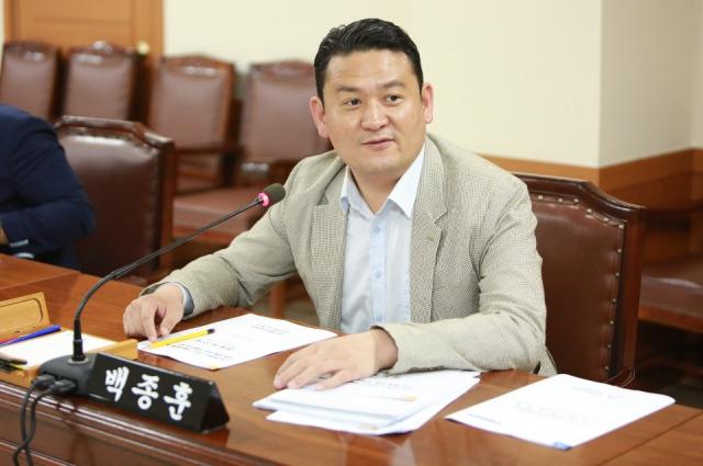 더불어민주탕을 탈당한 백종훈 대구 수성구 의원. 사진=수성구의회