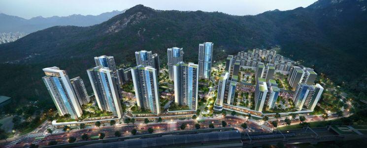 서울 노원구 상계동 상계2구역 재개발 사업 조감도