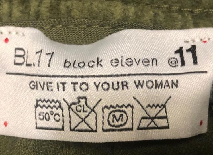 성차별적으로 해석될 수 있는 문제의 세탁법 라벨 / 사진=페이스북 캡처