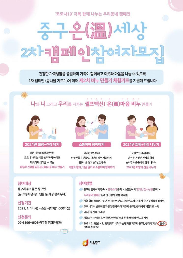 서울 중구, 셀프백신 온(溫)마음 비누 만들어 기부