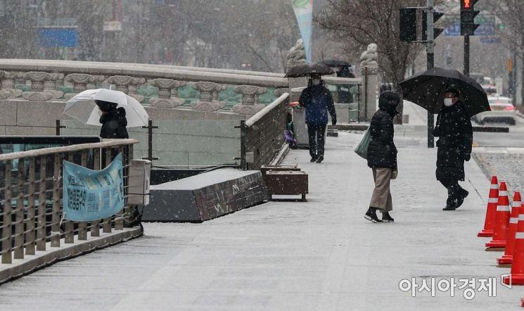 [포토] 눈 내리는 서울 도심