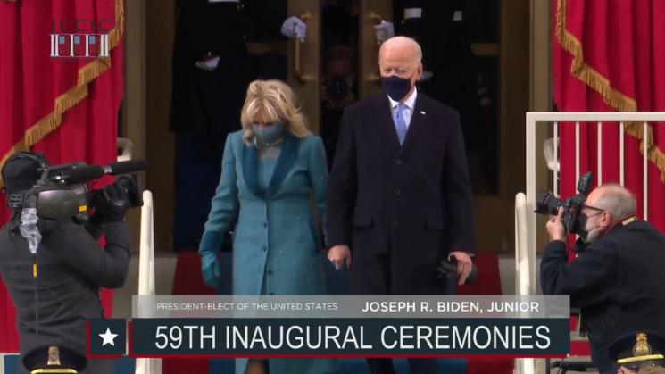 [속보] 바이든, 46대 美 대통령 취임식장 입장