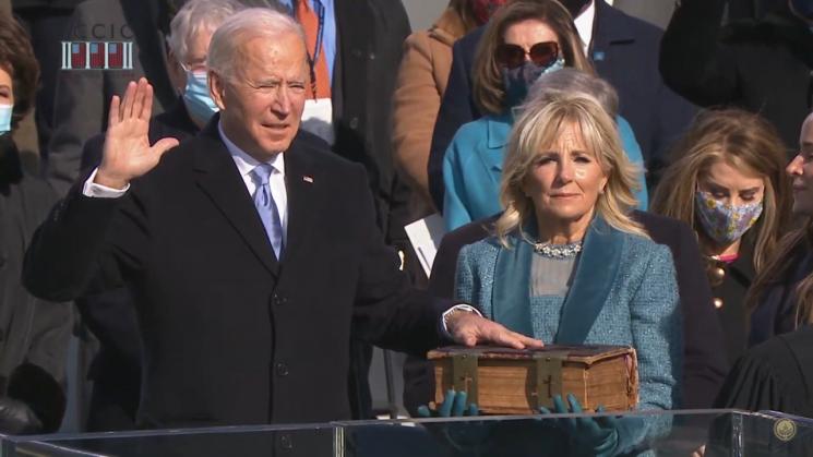 [속보] 바이든, 미 46대 대통령 취임 선서