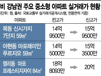 선 넘은 가격…마포 이어 목동도 '59㎡ 15억' 돌파