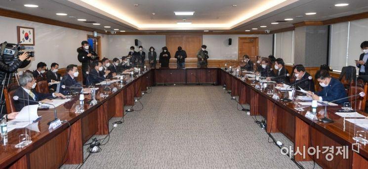 [포토]'더불어민주당-금융권CEO K뉴딜 지원방안 회의'