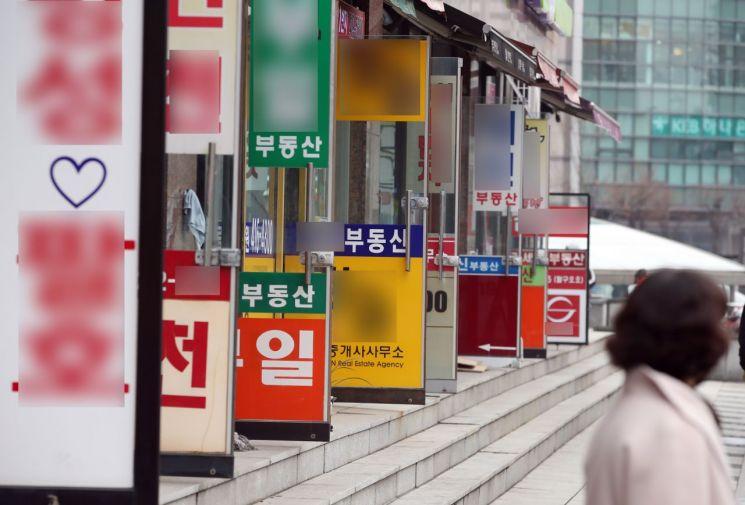 서울의 한 부동산 중개업소 밀집 상가 (사진=연합뉴스)