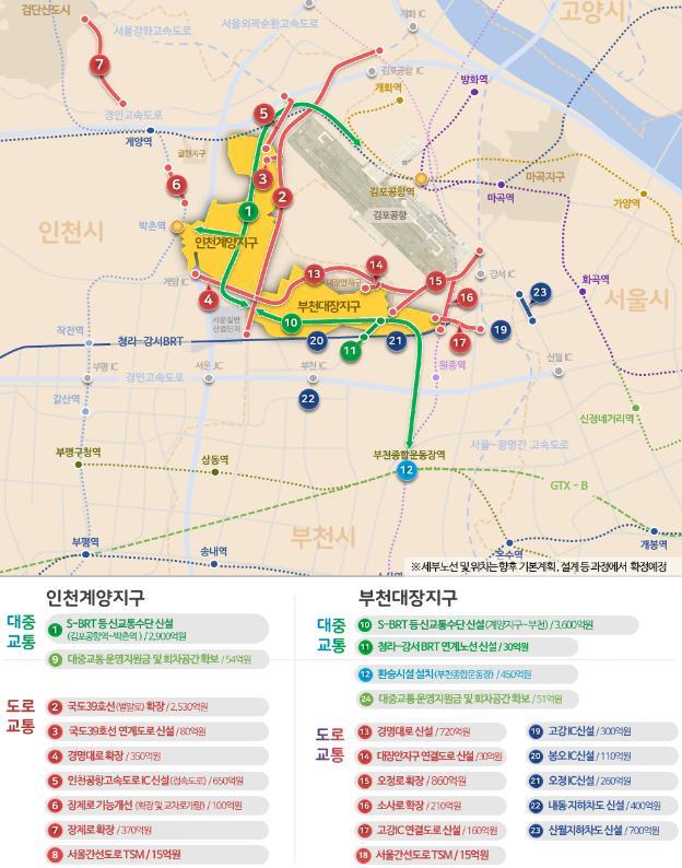 인천계양·부천대장 광역교통개선대책/자료:국토교통부