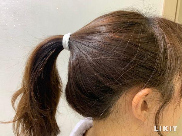 머리끈으로 재탄생한 마스크 끈