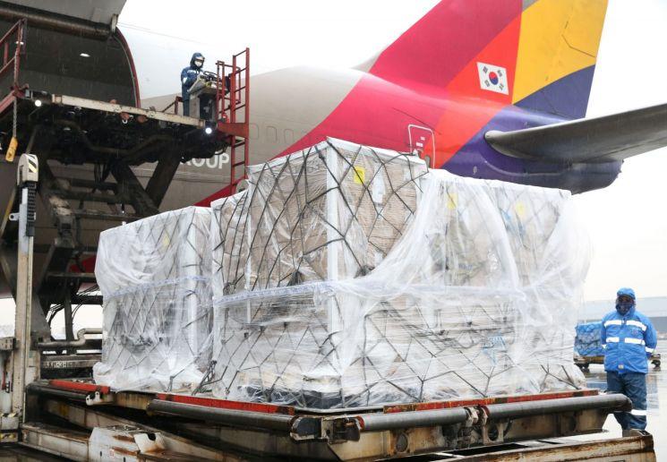아시아나, 미국산 계란 20톤 긴급 수송