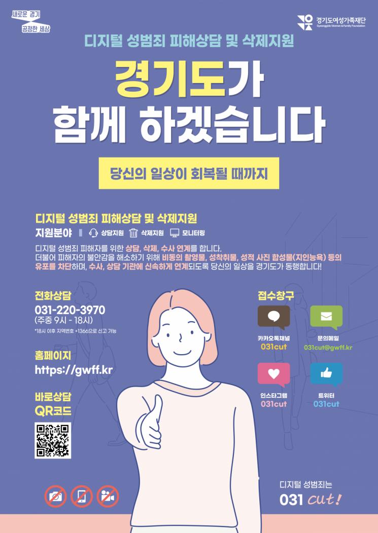 경기도, 디지털 성범죄 게시물 550건 적발…116건 삭제