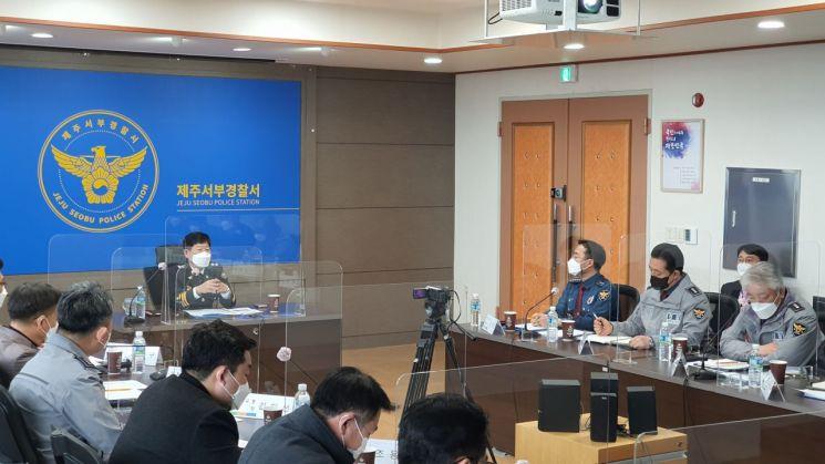강황수 제주경찰청장, 서부경찰서·특공대 치안현장 방문