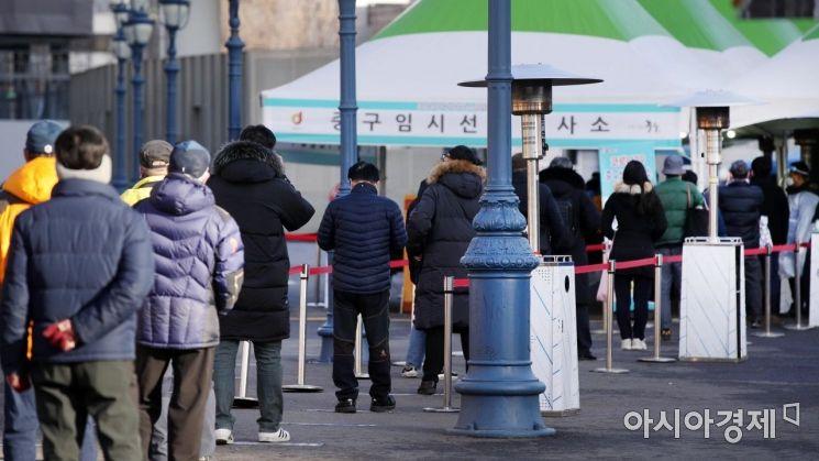 [포토] 코로나19 검사 기다리는 시민들