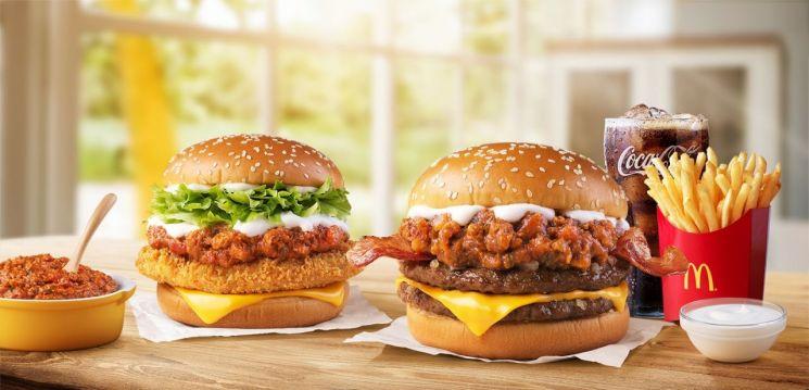 맥도날드, '미트칠리버거' 2종 판매