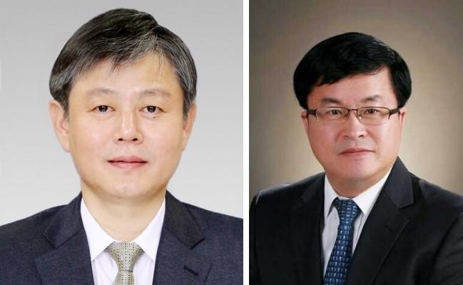 왼쪽부터 김광태 서울고등법원장, 성지용 서울중앙지법원장.