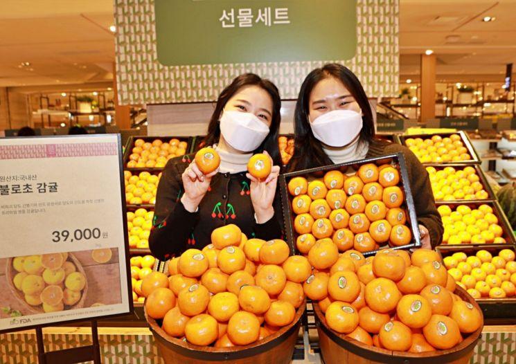 롯데백화점, '불로초 감귤 더 블랙'…협업 상품 출시